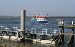 In the harbor of the citty of Harlingen. Netherlands, Harlingen,-june 2016: Harbour and dock at the Wadden Sea Stock Photo