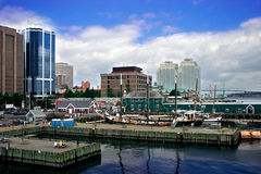 Harbor by the City Stock Photo