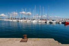 Alghero harbor, Italy stock image