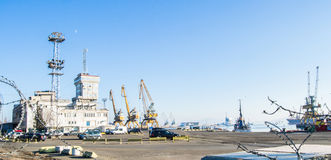 The harbor of the city Burgas in Bulgaria Royalty Free Stock Image