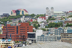 Harbor City of St Johns in Newfoundland Stock Image