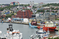 Harbor and city view of St Johns Royalty Free Stock Image