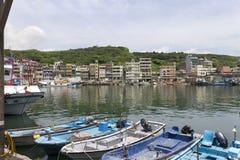 Harbor in the city Wanli next to Yehliu park Stock Image