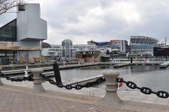 Harbor of Cleveland in Ohio, USA stock photos