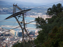 the harbor and coastline of Gibraltar. Royalty Free Stock Photos