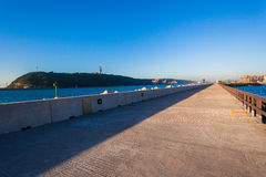 Harbor Concrete Pier Channel  Royalty Free Stock Photos