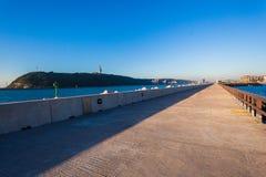 Harbor Concrete Pier Channel royalty free stock photos