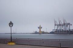 Harbor container cranes Stock Image