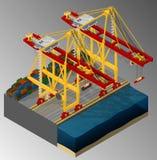 Harbor container gantry crane. Stock Photography