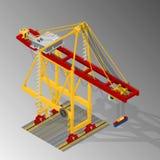 Harbor container gantry crane. Stock Image
