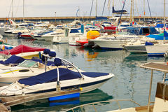 Harbor in Costa Adeje Royalty Free Stock Image