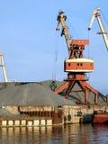 Harbor crane. In operation. v2 Royalty Free Stock Photo