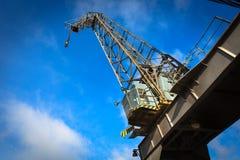 Harbor crane Stock Image
