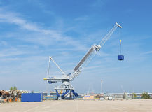 Harbor crane Stock Photography