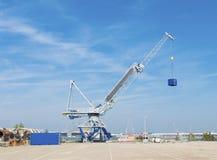 Harbor crane Stock Photography