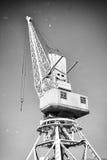 Harbor crane. Royalty Free Stock Photography