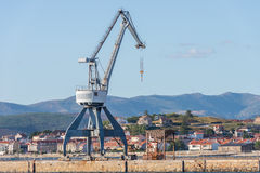 Harbor crane on the pier Royalty Free Stock Photography