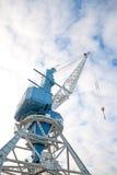 Harbor crane on rails. Royalty Free Stock Photography