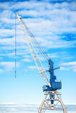Harbor crane. Royalty Free Stock Images