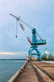 Harbor crane. Royalty Free Stock Photos