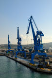 Harbor cranes Royalty Free Stock Images