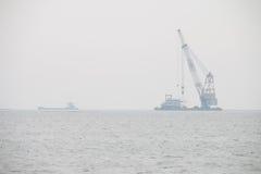 Harbor cranes Stock Photo