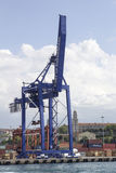 Harbor cranes of İstanbul, Kadikoy Stock Photography