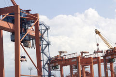 Harbor cranes of İstanbul, Kadikoy Stock Image
