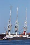 Harbor cranes Royalty Free Stock Photos