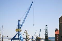Harbor cranes Royalty Free Stock Photography