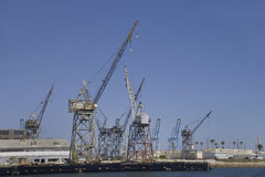Harbor cranes Royalty Free Stock Photography