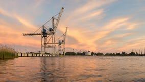 Harbor cranes Stock Photos