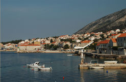 Harbor croatia brac Royalty Free Stock Image