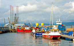 The harbor at Cromarty Easter Ross. Stock Images