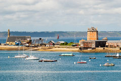 Harbor of Crozon camaret in brittany Stock Photos