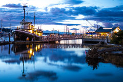 Harbor Days. At night in Olympia, Wa royalty free stock photography