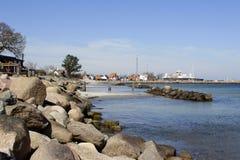 Harbor in Denmark Royalty Free Stock Photos