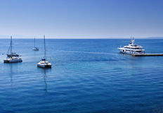 Harbor detail in Corfu town, Greece Stock Photography
