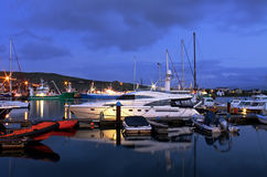 Harbor in Dingle at night Stock Photography