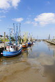 Harbor of Dorum at the german wadden sea Royalty Free Stock Photography