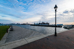 Harbor in downtown historic Harbor East/ Fells Point, Baltimore royalty free stock images