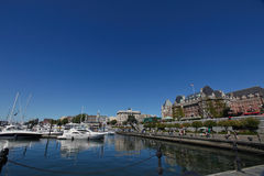 Harbor in Downtown Victoria, British Columbia Stock Images