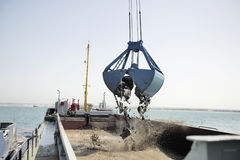 Harbor Dredging Royalty Free Stock Photo