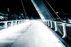 The Harbor Drive Pedestrian Bridge at night, in San Diego, Calif Stock Photo