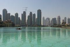 Harbor Dubai Skyline cityscape Royalty Free Stock Photos