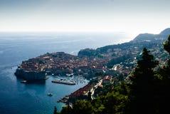 Harbor of Dubrovnik Stock Photo