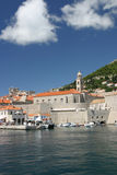 The harbor of Dubrovnik in Croatia Stock Image