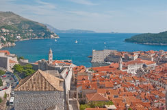 Harbor of Dubrovnik in Croatia Stock Images