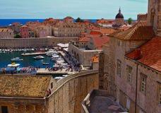 The harbor in Dubrovnik, Croatia royalty free stock photos