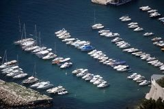 Harbor in Dubrovnik stock images